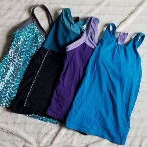 Lucy Athletic Tank Lotof 4 (Sz L)